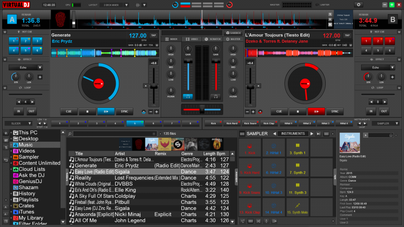 virtualdj 8 getting started When used with virtualdj 8, the remote can now access the full power of the skin engine, including waveforms, scratch waves, full-featured browser with search, cover pictures, etc the new remote v8 also now perfectly handles multi-touch and pinch gestures for a full touch experience.