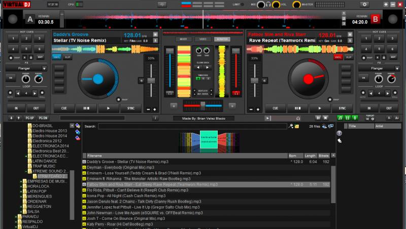 DJ Software - VirtualDJ - Virtualdj 8 Evolution skin from v7 4