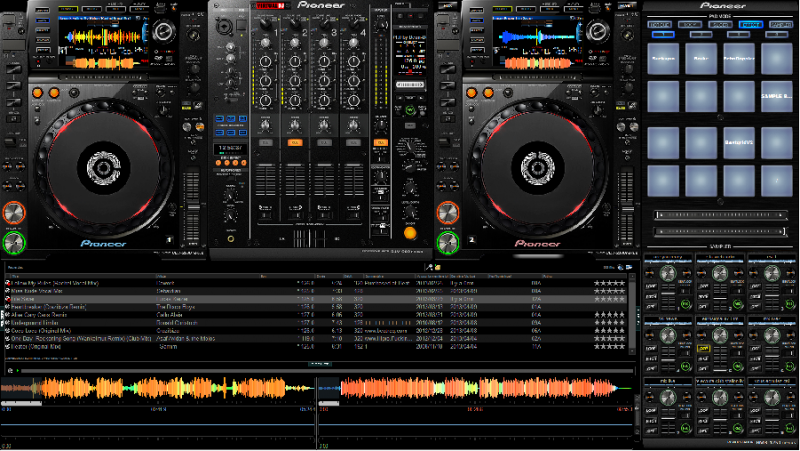 virtual dj software skin pioneer cdj2000 nexus djm900. Black Bedroom Furniture Sets. Home Design Ideas