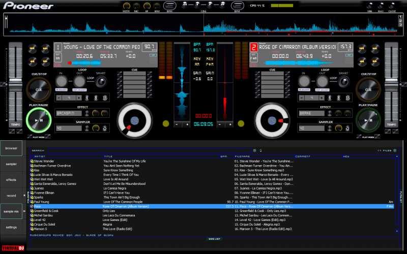pioneer dj software
