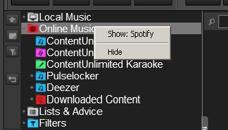 DJ Software - VirtualDJ - no option to use spotify