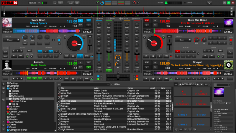 DJ Software - VirtualDJ - VirtualDJ 8 - SWAP Skin (4 Decks)