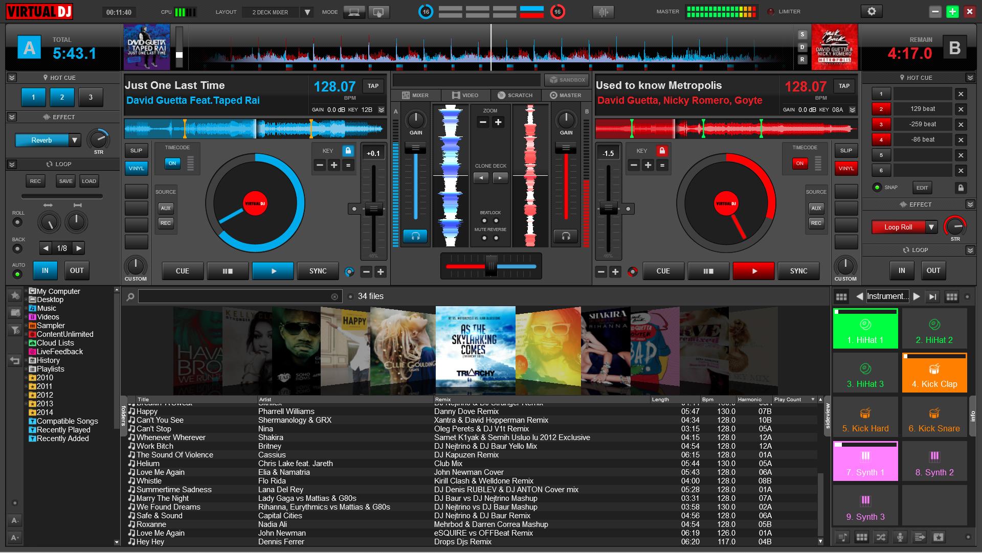 virtual dj home free clubic