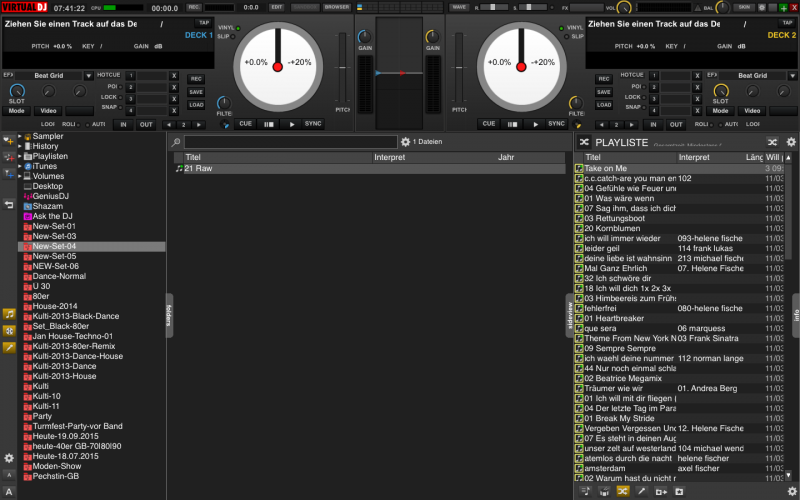DJ Software - VirtualDJ - Search strip too small MacBook Pro