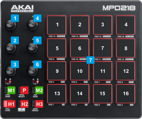 VIRTUAL DJ SOFTWARE - Hardware Manuals - AKAI - MPD218